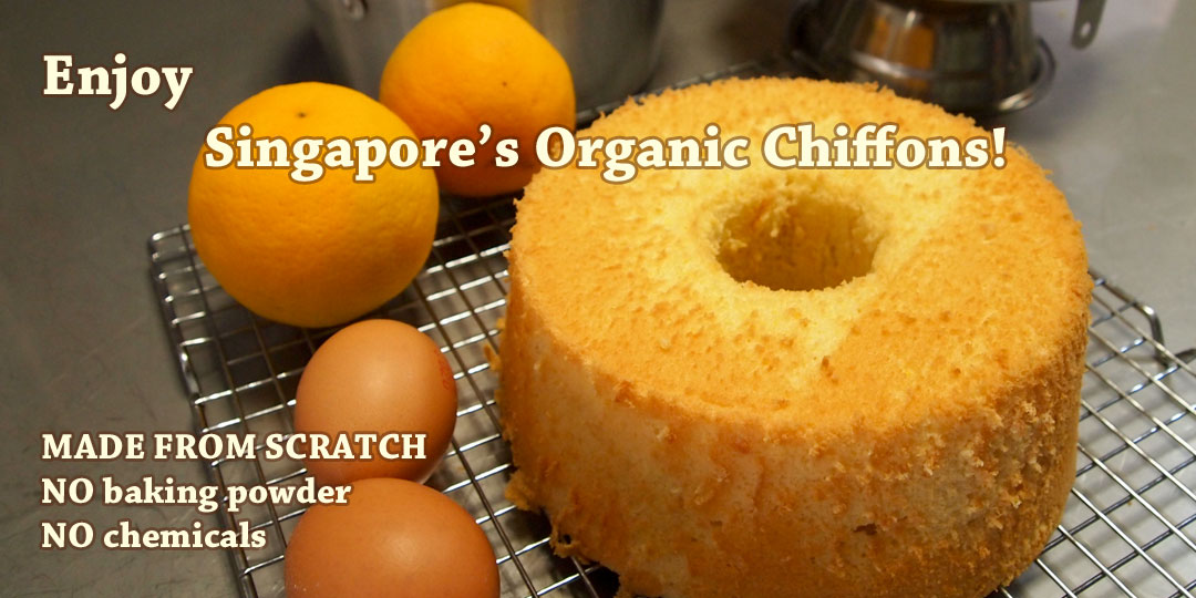 Organic Chiffon Cakes, no baking powder, no chemicals