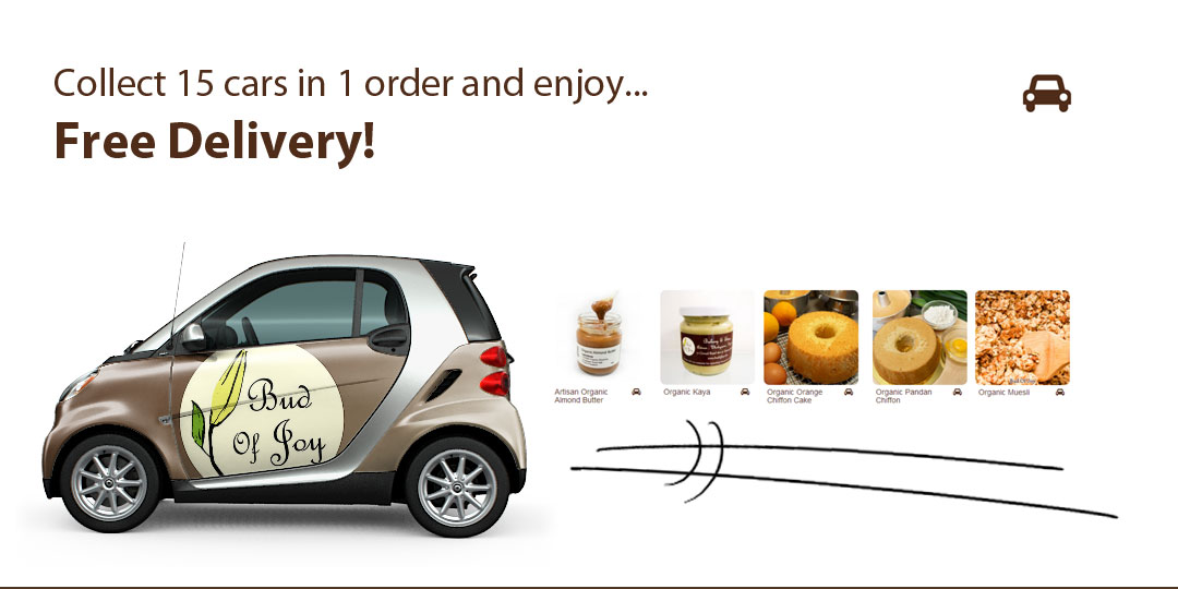 Collect 15 cars and enjoy free delivery!