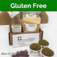 Baking Kit - Organic Cranberry-Matcha Muffins (Gluten-Free and Vegan)