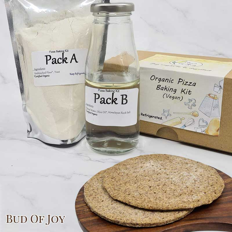 Baking Kit - Organic Vegan Pizza Dough (Vegan Cheese Sold Separately)