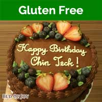 Organic Gluten-Free Chocolate Fudge Cake with Fruits (8inch Round)