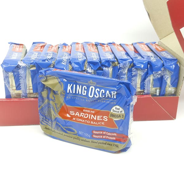 King Oscar Brisling Sardines (pack of 12) - Tomato
