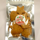 Organic Almond Cookies in Christmas Shapes