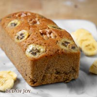 Organic Banana Walnut Cake (100% Wholemeal)