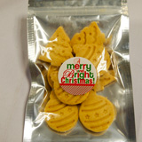 Organic Butter Cookies in Christmas Shapes