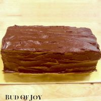 Organic Chocolate Fudge Cake (rectangular)