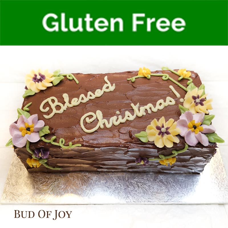 Organic Gluten Free Rectangular Christmas Log Cake
