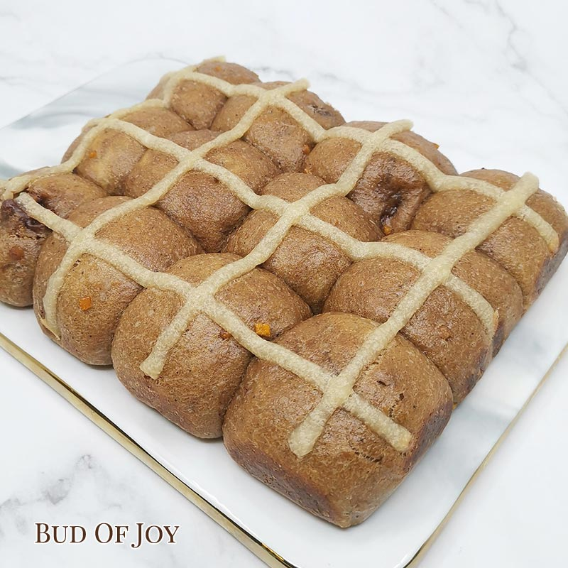 12 Small Organic Vegan Hot Cross Buns