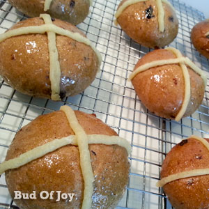 Organic Chia Seed Hot Cross Buns