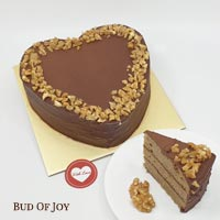 Organic Heart Shaped Mocha Cake (U.P. $75)
