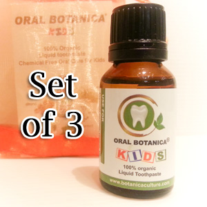 Oral Botanica Kids Organic Liquid Toothpaste (Set of 3)