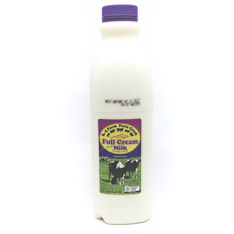 Organic Paris Creek Milk 1L (advance order)