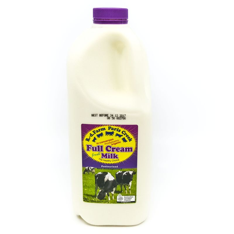 Organic Paris Creek Milk 2L (advance order)