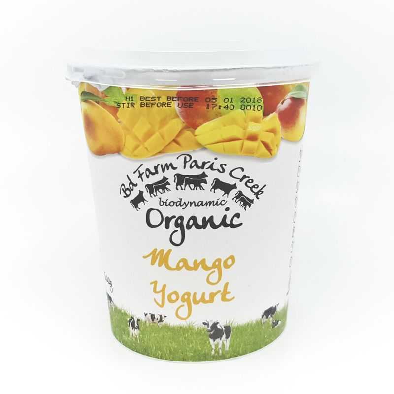 Organic Paris Creek Yoghurt - Mango