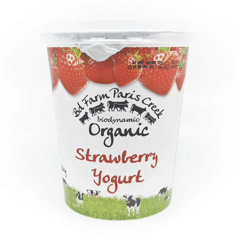 Organic Paris Creek Yoghurt - Strawberry