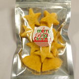 Organic Peppery Cheese Cookies in Christmas Shapes