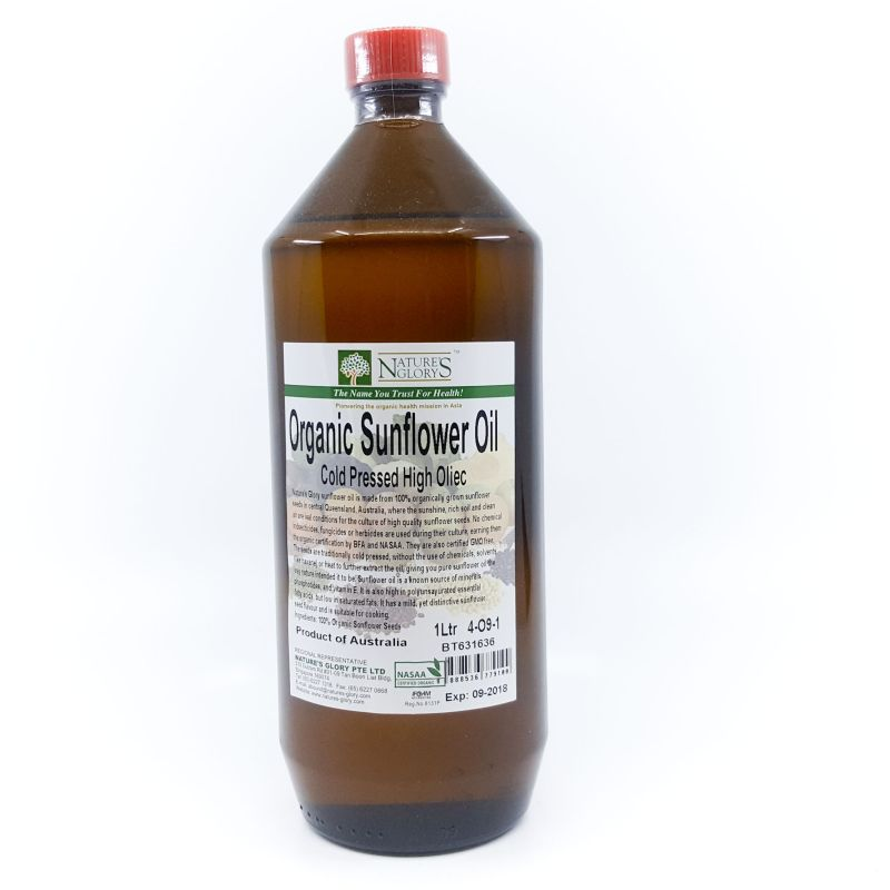 Organic Sunflower Oil - 1L