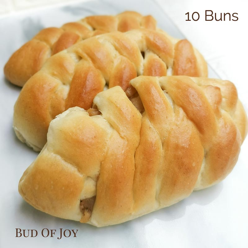 Organic Vegan Apple Buns (pack of 10)