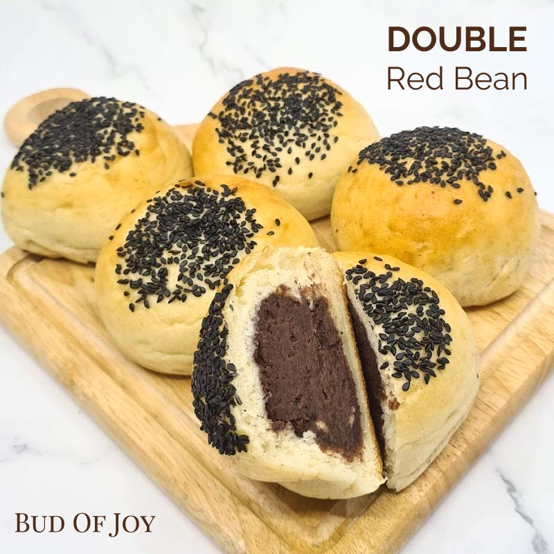 Organic Vegan DOUBLE Red Bean Buns (pack of 5)