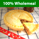 Organic Wholemeal Apple Pie with Raw Honey and Cinnamon