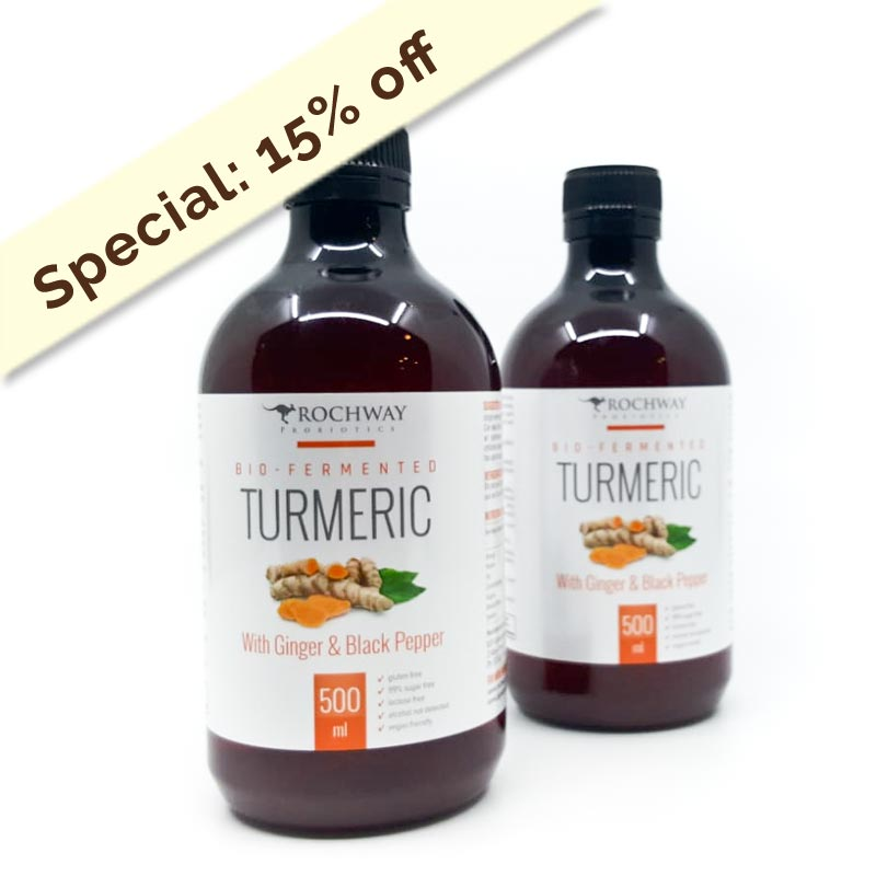 Rochway Bio-Fermented Turmeric with probiotics (Set of 2)
