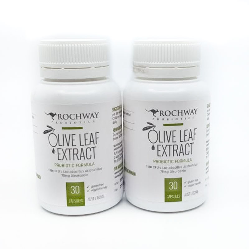 Olive Leaf Extract with probiotics (Set of 2 x 30 capsules)